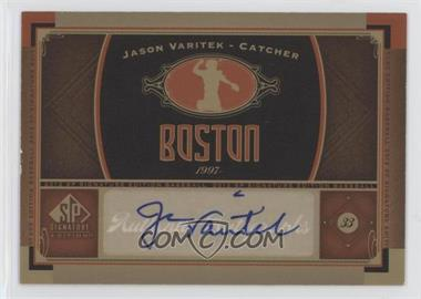 2012 SP Signature Collection - [Base] - [Autographed] #BOS 12 - Jason Varitek