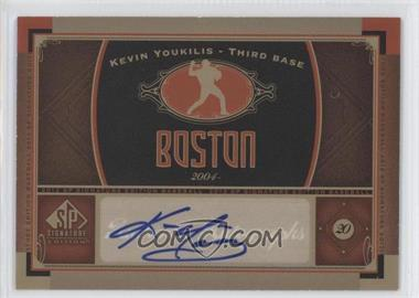 2012 SP Signature Collection - [Base] - [Autographed] #BOS 13 - Kevin Youkilis