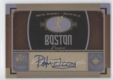 2012 SP Signature Collection - [Base] - [Autographed] #BOS 25 - Pete Hissey