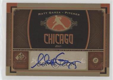 2012 SP Signature Collection - [Base] - [Autographed] #CHC 9 - Matt Garza