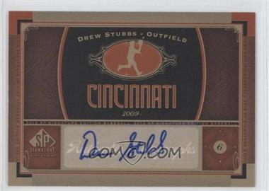 2012 SP Signature Collection - [Base] - [Autographed] #CIN 4 - Drew Stubbs