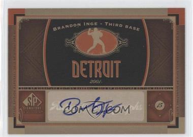 2012 SP Signature Collection - [Base] - [Autographed] #DET 3 - Brandon Inge