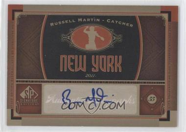 2012 SP Signature Collection - [Base] - [Autographed] #NYY 14 - Russell Martin