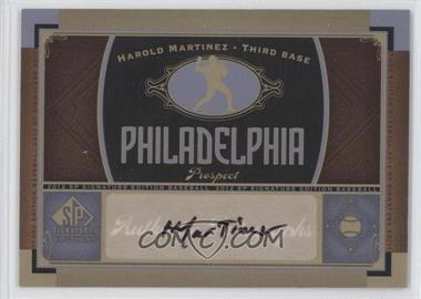 2012 SP Signature Collection - [Base] - [Autographed] #PHI 12 - Harold Martinez