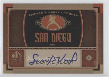 2012 SP Signature Collection - [Base] - [Autographed] #SD 4 - Edinson Volquez
