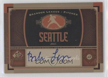 2012 SP Signature Collection - [Base] - [Autographed] #SEA 6 - Brandon League