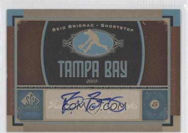 2012 SP Signature Collection - [Base] - [Autographed] #TB 8 - Reid Brignac