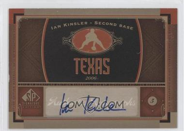 2012 SP Signature Collection - [Base] - [Autographed] #TEX 2 - Ian Kinsler