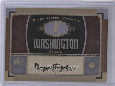 2012 SP Signature Collection - [Base] - [Autographed] #WAS 9 - Bryce Harper