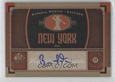2012 SP Signature Collection [Autographed] #NYY 14 - Russell Martin - Courtesy of COMC.com