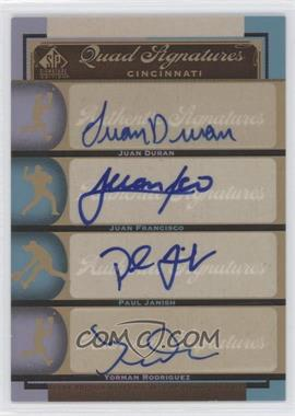 2012 SP Signature Edition - [Base] #CIN12 - Paul Janish, Yorman Rodriguez, Juan Duran, Juan Francisco