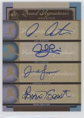 2012 SP Signature Edition - [Base] #HOU15 - Jed Lowrie, Jordan Lyles, Ross Seaton, Jay Austin