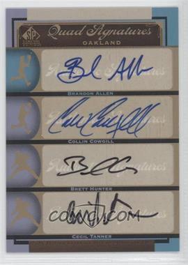 2012 SP Signature Edition - [Base] #OAK20 - Brandon Allen, Collin Cowgill, Brett Hunter, Cecil Tanner