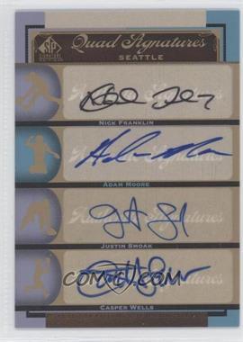 2012 SP Signature Edition - [Base] #SEA16 - Nick Franklin, Adam Moore, Justin Smoak, Casper Wells