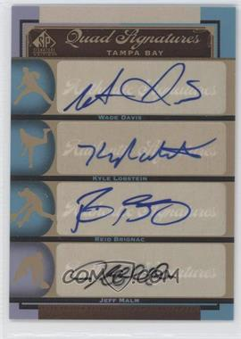 2012 SP Signature Edition - [Base] #TB19 - Wade Davis, Reid Brignac, Jeff Malm, Kyle Lobstein