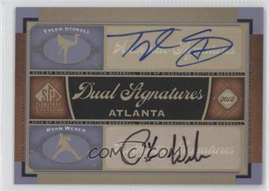 2012 SP Signature Edition - Dual Signatures #ATL8 - Tyler Stovall, Ryan Weber