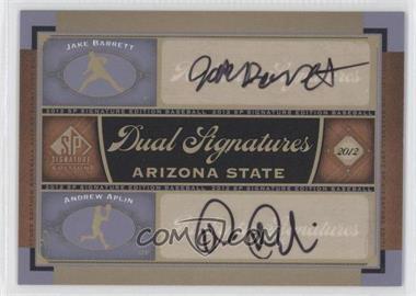 2012 SP Signature Edition - Dual Signatures #AZST1 - Jake Barrett, Andrew Aplin