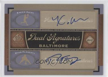 2012 SP Signature Edition - Dual Signatures #BAL15 - Xavier Avery, Ryan Flaherty