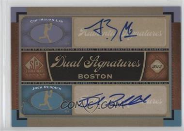 2012 SP Signature Edition - Dual Signatures #BOS31 - Che-Hsuan Lin, Josh Reddick