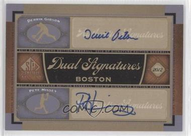 2012 SP Signature Edition - Dual Signatures #BOS32 - Pete Hissey, Derrik Gibson