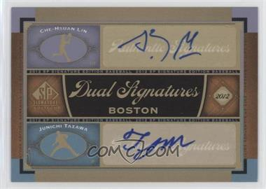 2012 SP Signature Edition - Dual Signatures #BOS34 - Che-Hsuan Lin, Junichi Tazawa