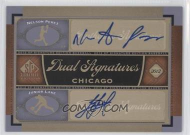 2012 SP Signature Edition - Dual Signatures #CHC13 - Nelson Perez, Junior Lake