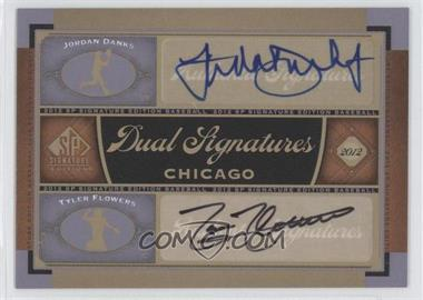 2012 SP Signature Edition - Dual Signatures #CHW10 - Jordan Danks, Tyler Flowers
