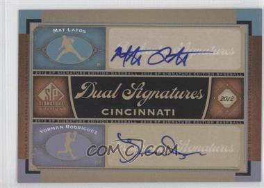 2012 SP Signature Edition - Dual Signatures #CIN10 - Mat Latos, Yorman Rodriguez