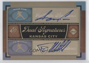 2012 SP Signature Edition - Dual Signatures #KC16 - Aaron Crow, Tim Melville
