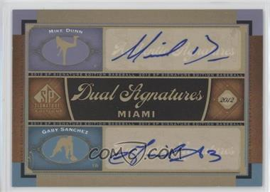 2012 SP Signature Edition - Dual Signatures #MIA10 - Mike Dunn, Gaby Sanchez