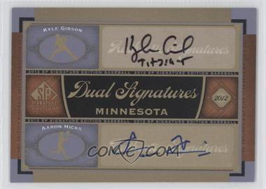 2012 SP Signature Edition - Dual Signatures #MIN13 - Kyle Gibson, Aaron Hicks