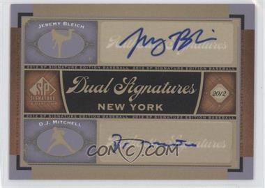 2012 SP Signature Edition - Dual Signatures #NYY22 - Jeremy Bleich, D. J. Mitchell