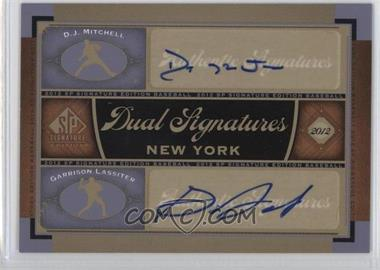 2012 SP Signature Edition - Dual Signatures #NYY23 - D.J. Mitchell, Garrison Lassiter