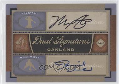 2012 SP Signature Edition - Dual Signatures #OAK16 - Max Stassi, Jemile Weeks