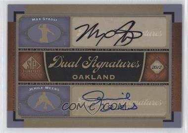 2012 SP Signature Edition - Dual Signatures #OAK16 - Max Stassi, Jemile Weeks