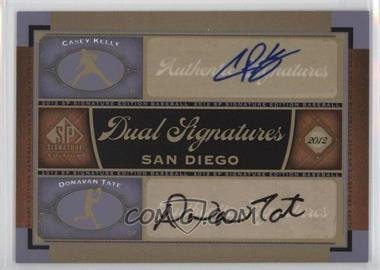 2012 SP Signature Edition - Dual Signatures #SD11 - Casey Kelly, Donavan Tate