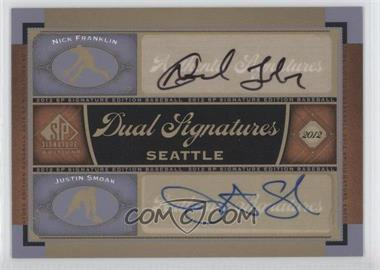 2012 SP Signature Edition - Dual Signatures #SEA13 - Nick Franklin, Justin Smoak