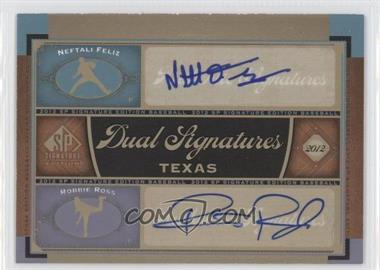2012 SP Signature Edition - Dual Signatures #TEX11 - Neftali Feliz, Robbie Ross
