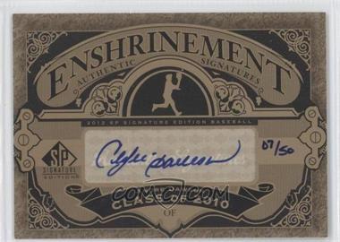 2012 SP Signature Edition - Enshrinement Signatures #E-AD - Andre Dawson