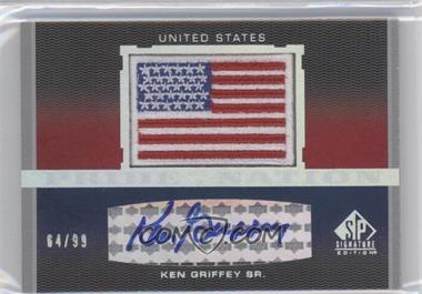 2012 SP Signature Edition - Pride of a Nation Autographs #PN-SR - Ken Griffey /99