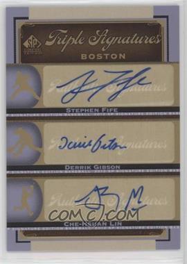 2012 SP Signature Edition - Triple Signatures #BOS35 - Stephen Fife, Che-Hsuan Lin, Derrik Gibson