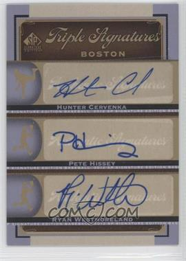 2012 SP Signature Edition - Triple Signatures #BOS36 - Hunter Cervenka, Pete Hissey, Ryan Westmoreland