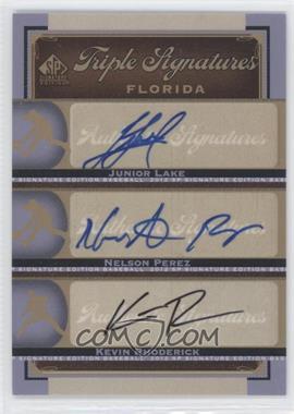 2012 SP Signature Edition - Triple Signatures #CHC15 - Kevin Rhoderick, Nelson Perez, Junior Lake