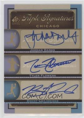 2012 SP Signature Edition - Triple Signatures #CHW11 - Tyler Flowers, Brent Lillibridge, Jordan Danks