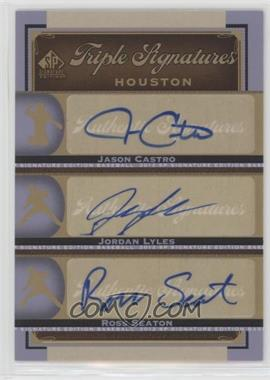 2012 SP Signature Edition - Triple Signatures #HOU14 - Jason Castro, Jordan Lyles, Ross Seaton