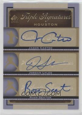 2012 SP Signature Edition - Triple Signatures #HOU14 - Jason Castro, Jordan Lyles, Ross Seaton