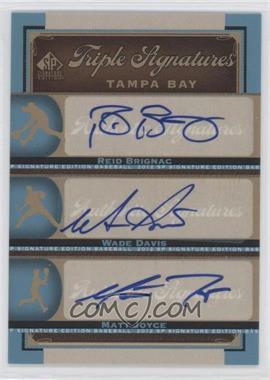 2012 SP Signature Edition - Triple Signatures #TB18 - Reid Brignac, Wade Davis, Matt Joyce