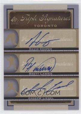 2012 SP Signature Edition - Triple Signatures #TOR14 - David Cooper, Brett Lawrie, Andrew Liebel