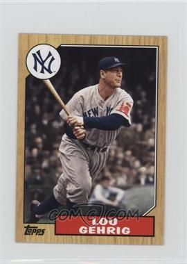 2012 Topps - 1987 Topps Minis #TM-125 - Lou Gehrig