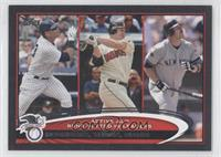 Jim Thome, Jason Giambi, Alex Rodriguez #/61